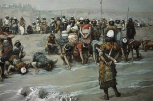 Phillip Medhurst presents 194_788 James Tissot Bible c 1899 Gideon chooses the three hundred Judges 7_6 Jewish Museum New York.jpg